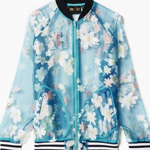7f3ffea5e4f adidas Jackets   Blazers - Adidas Original Pharrell Transparent Floral  Jacket